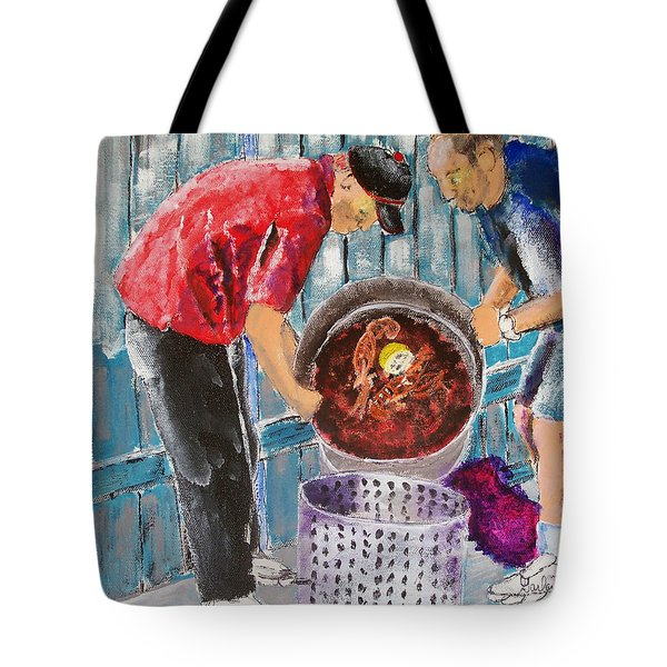 Boiling Mud Bugs Tote Bag