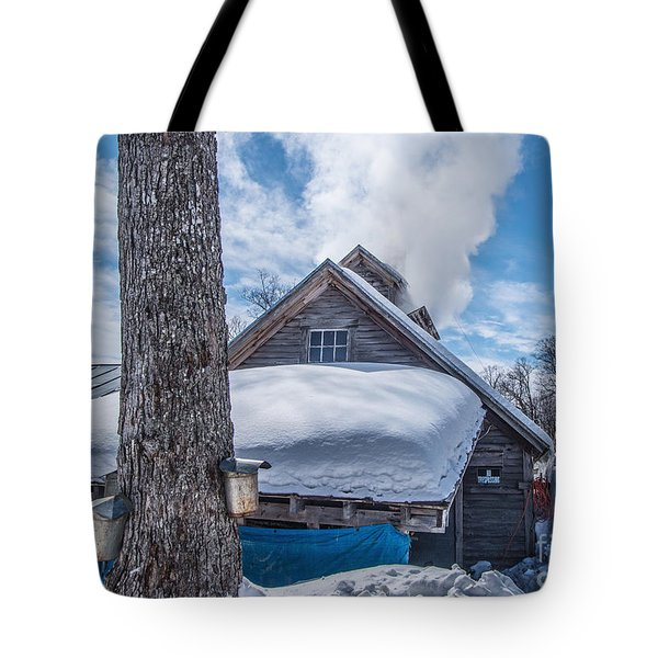 Boiling The Sap Tote Bag by Alana Ranney