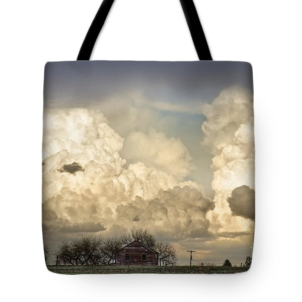 Boiling Thunderstorm Clouds And The Little House On The Prairie Tote Bag by James BO  Insogna
