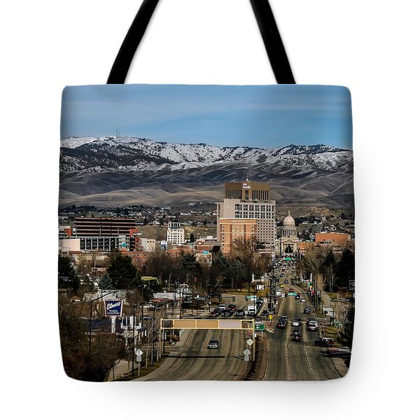 Boise Idaho Tote Bag by Robert Bales