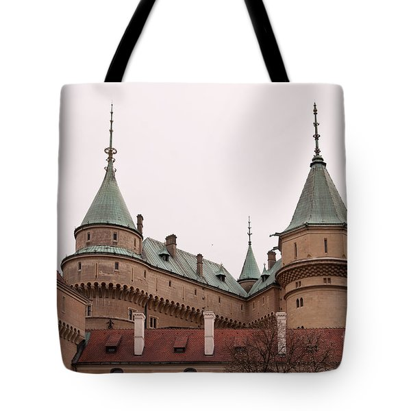Tote Bag featuring the photograph Bojnice Castle by Les Palenik