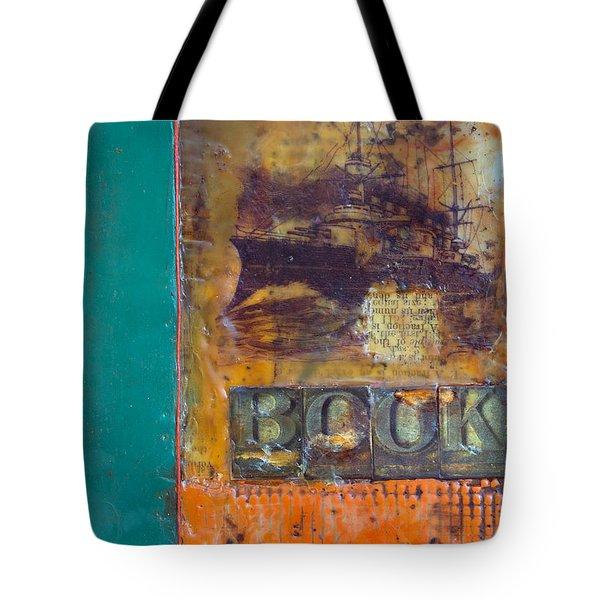 Book Cover Encaustic Tote Bag by Bellesouth Studio