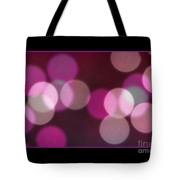 Tote Bag featuring the photograph Bokeh Dots by Chris Anderson