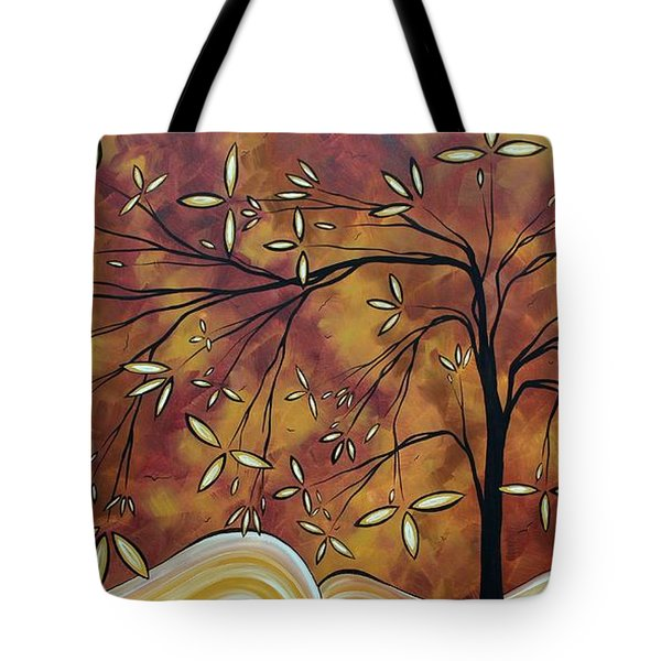 Bold Neutral Tones Abstract Landscape Art Oversized Original Painting The Wishing Tree By Madart Tote Bag by Megan Duncanson
