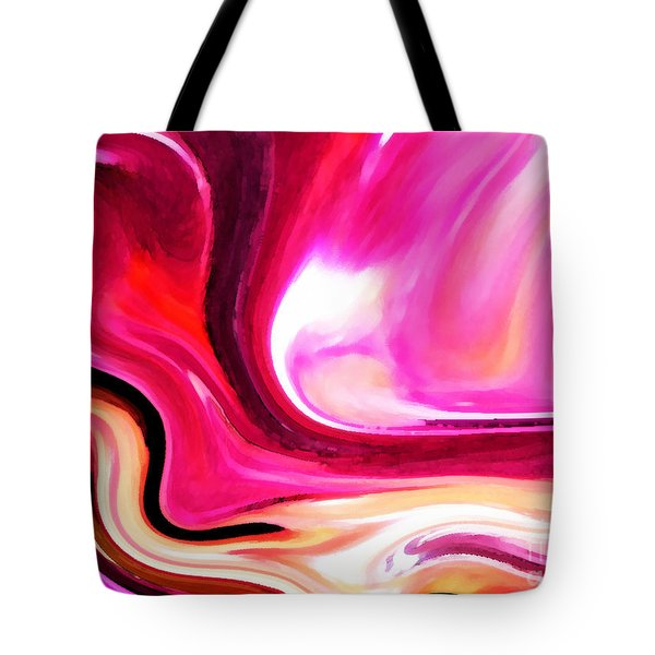 Bold Pink Abstract Tote Bag by Carol Groenen
