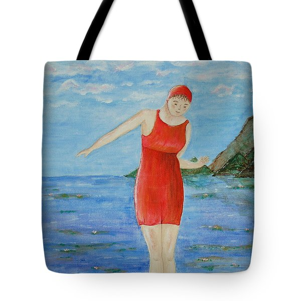 Bold Red Tote Bag