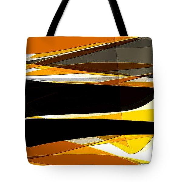 Bold- Yellow Orange Black And Gray Art Tote Bag