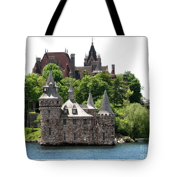Boldt Castle And Powerhouse Tote Bag by Rose Santuci-Sofranko