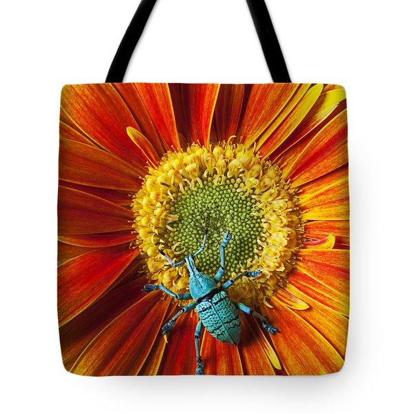 Boll Weevil On Mum Tote Bag by Garry Gay
