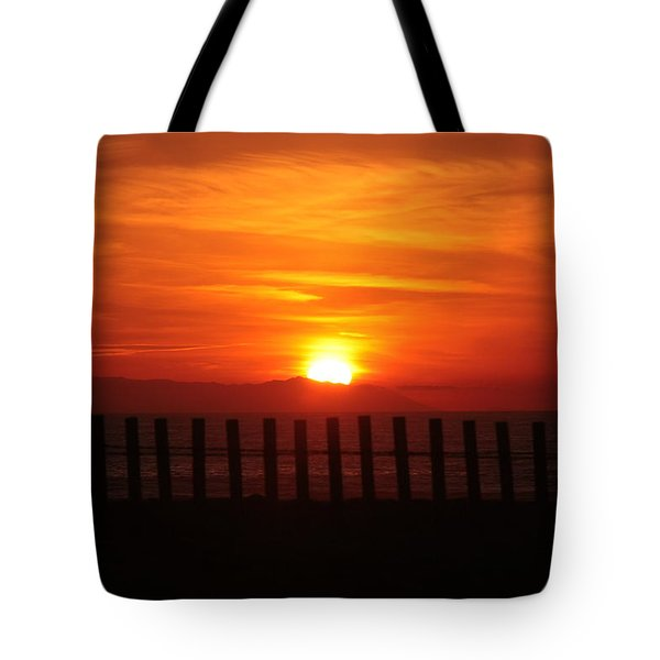 Bolsa Chica Sunset Tote Bag by Joanne Coyle