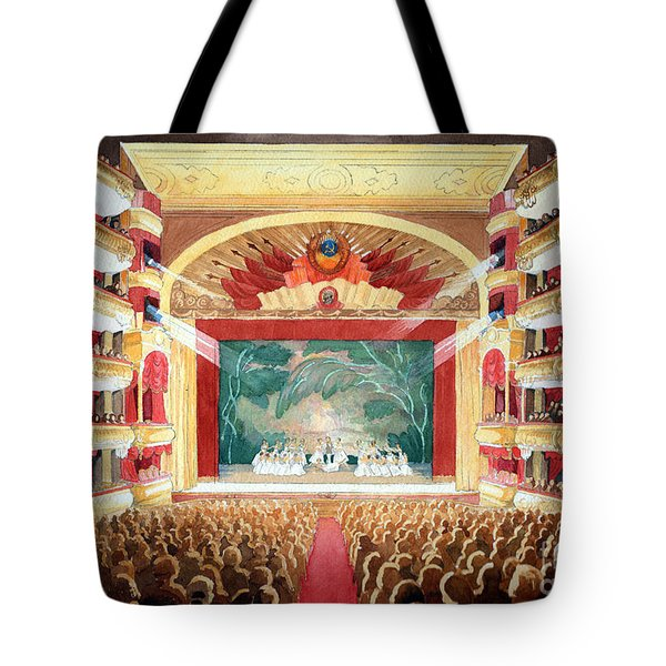 Tote Bag featuring the painting Bolshoi Ballet by Lora Serra