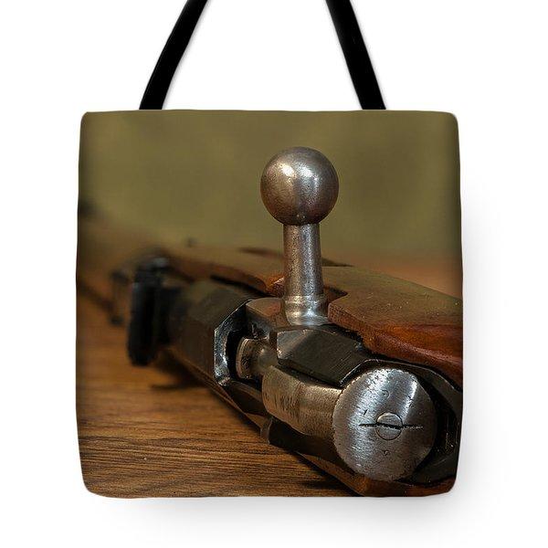 Bolt Action Tote Bag