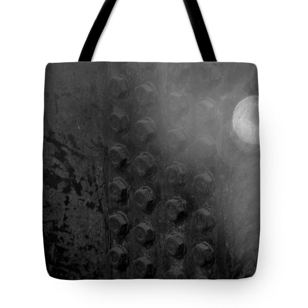 Bolts On The Trident In Black And White Tote Bag by Rob Hans