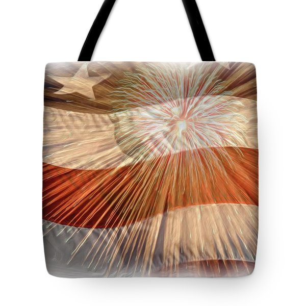 Bombs Bursting In Air Tote Bag by Heidi Smith