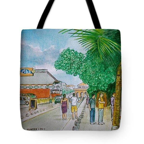 Bonaire Street Tote Bag by Frank Hunter