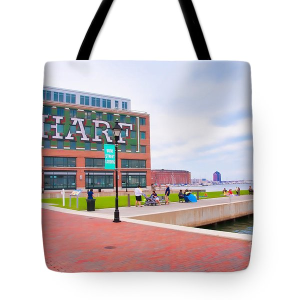 Bond Street Landing Baltimore Maryland Tote Bag