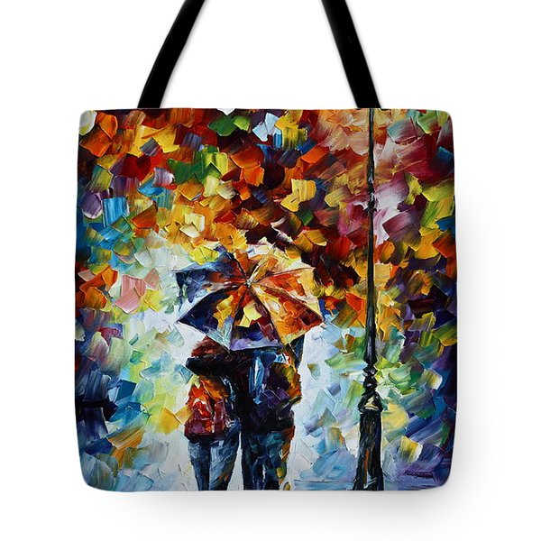 Bonded By Rain 2 Tote Bag by Leonid Afremov