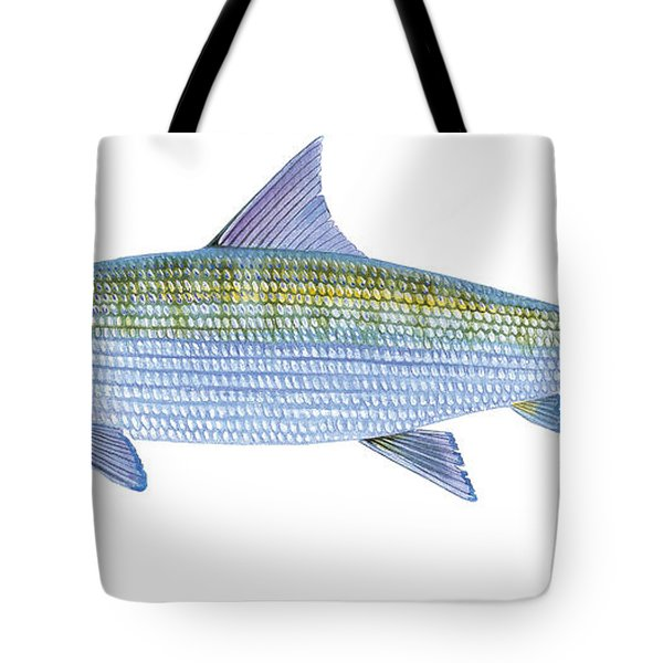 Bonefish Tote Bag by Carey Chen