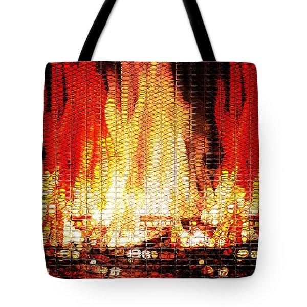 Bonfire Mosaic Tote Bag