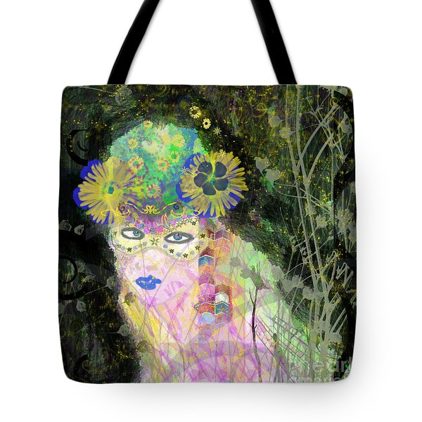 Tote Bag featuring the mixed media Bonnie Blue by Kim Prowse