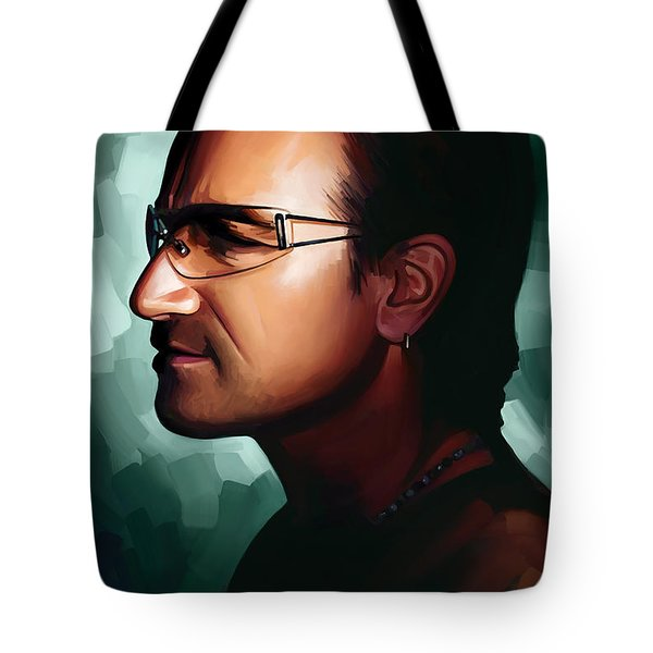 Bono U2 Artwork 1 Tote Bag by Sheraz A