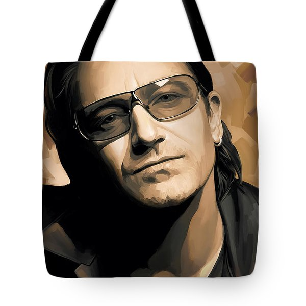 Bono U2 Artwork 2 Tote Bag by Sheraz A
