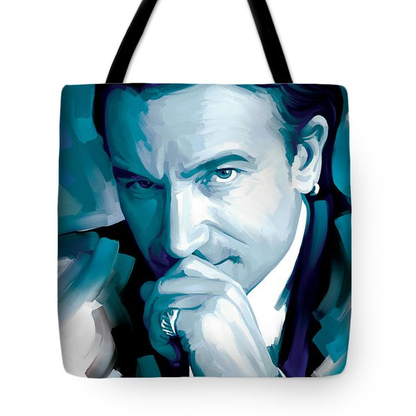 Bono U2 Artwork 4 Tote Bag by Sheraz A