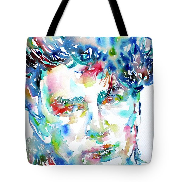 Bono Watercolor Portrait.1 Tote Bag by Fabrizio Cassetta
