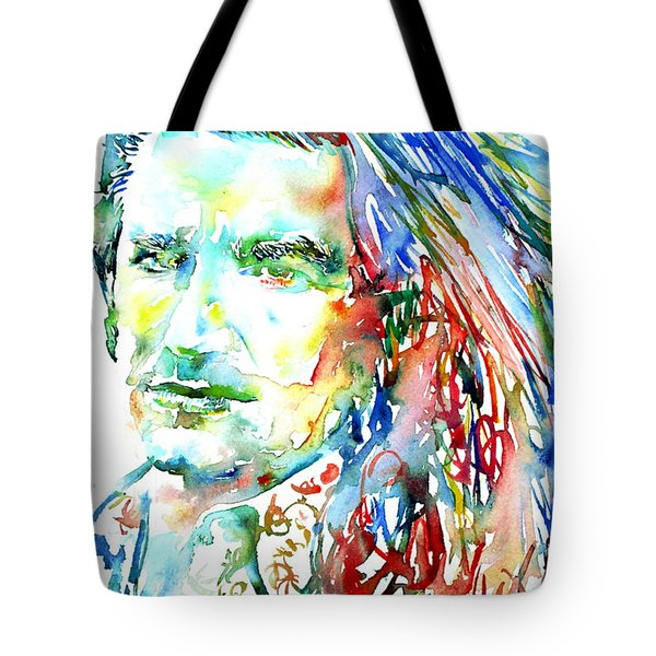 Bono Watercolor Portrait.2 Tote Bag by Fabrizio Cassetta