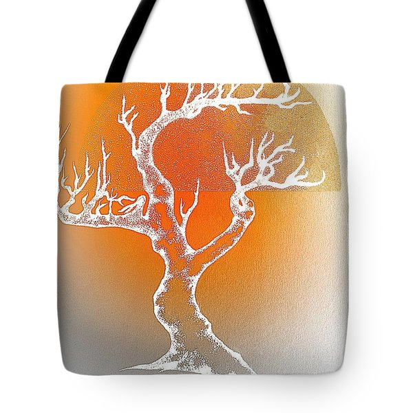 Tote Bag featuring the digital art Bonsai Orange by Greg Moores
