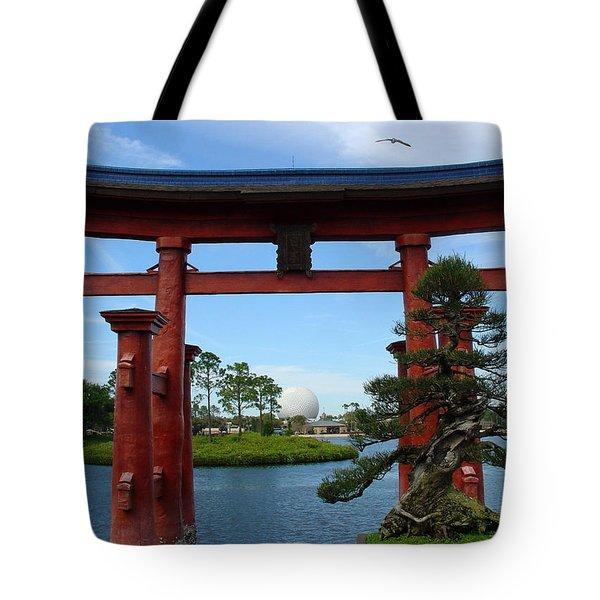 Tote Bag featuring the photograph Bonsai Pavillion by David Nicholls