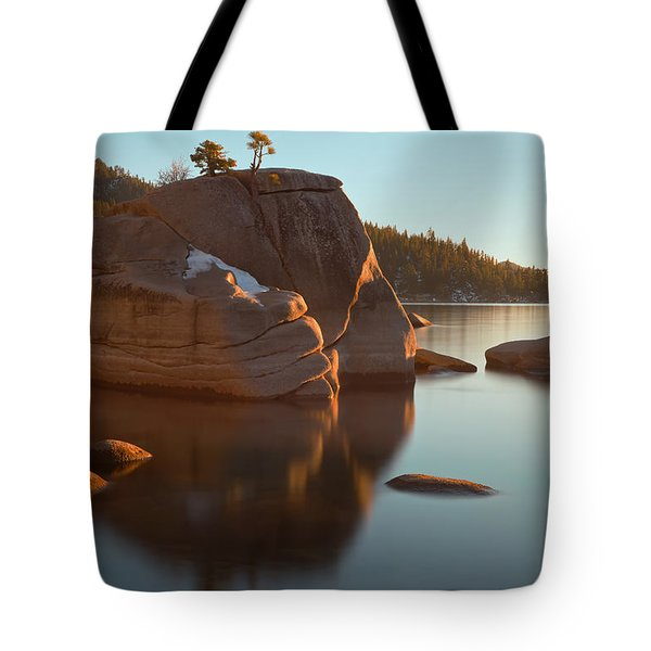 Tote Bag featuring the photograph Bonsai Rock by Jonathan Nguyen
