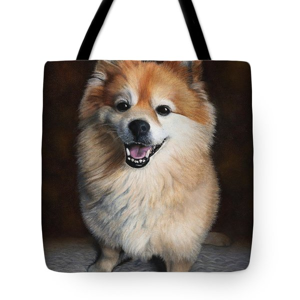 Tote Bag featuring the painting Boo 2 by Dee Dee  Whittle