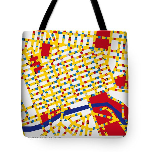 Boogie Woogie Melbourne Tote Bag by Chungkong Art