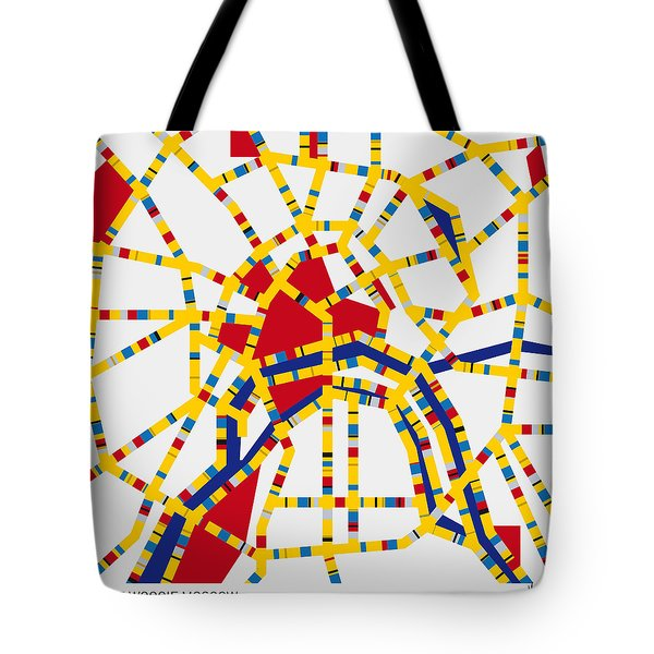 Boogie Woogie Moscow Tote Bag by Chungkong Art