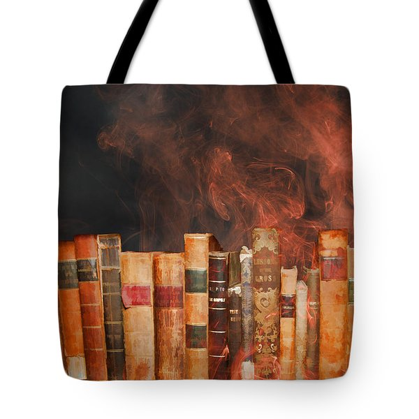 Book Burning Inspired By Fahrenheit 451 Tote Bag