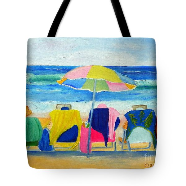 Book Club On The Beach Tote Bag