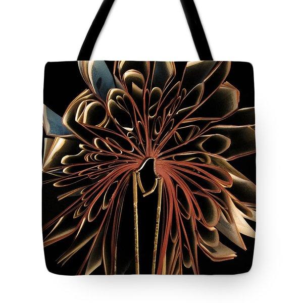 Book Flower Tote Bag
