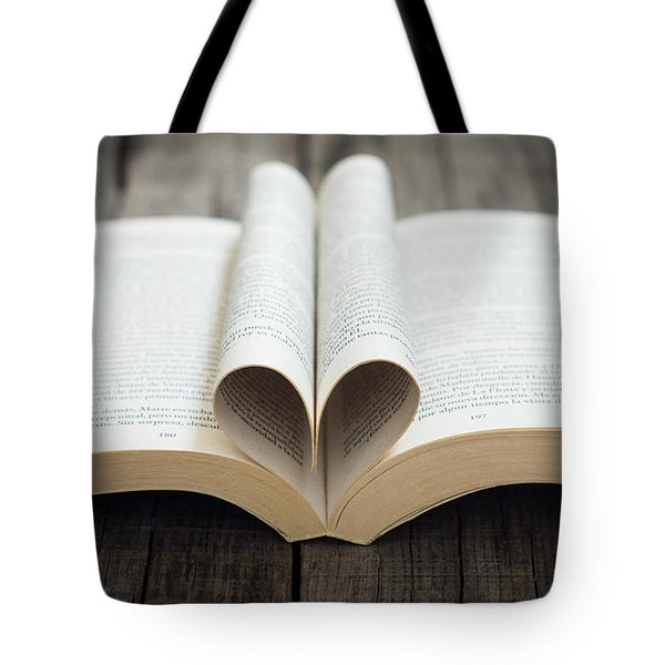 Book With Heart Tote Bag