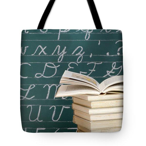 Books And Chalkboard Tote Bag