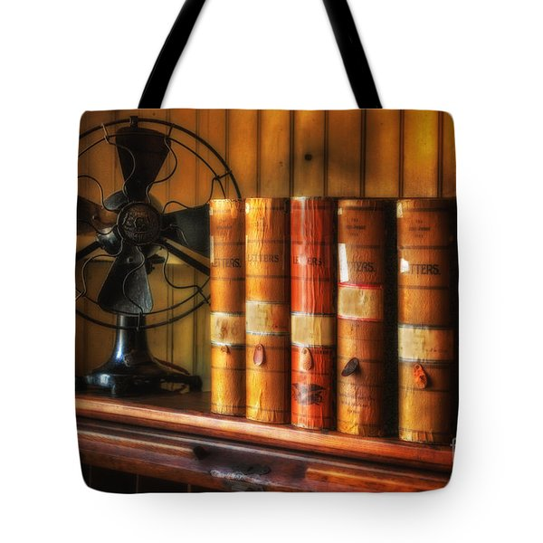 Books And Fan Tote Bag by Jerry Fornarotto