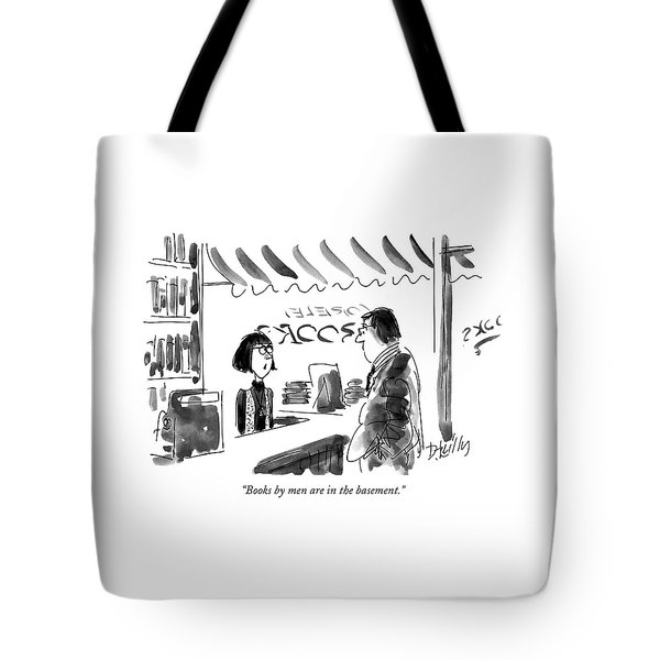 Books By Men Are In The Basement Tote Bag