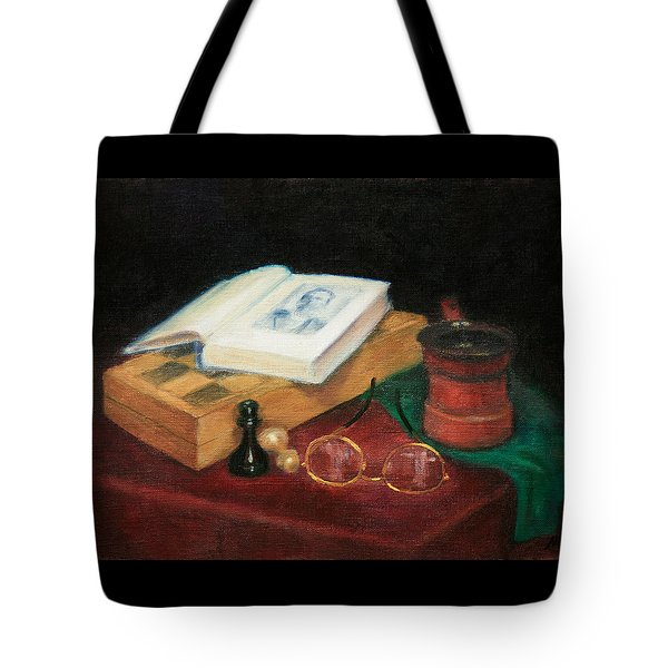 Books-chess-coffee Tote Bag