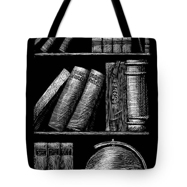 Books On Shelves Tote Bag by Jim Harris