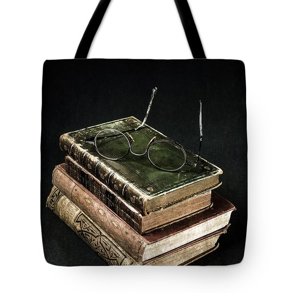 Books With Glasses Tote Bag by Joana Kruse