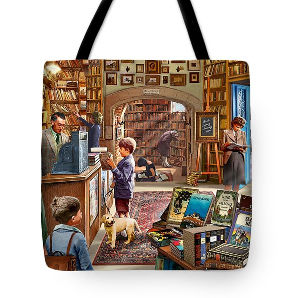 Bookshop Tote Bag by Steve Crisp
