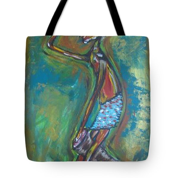 Tote Bag featuring the painting Boom Boom by Lucy Matta