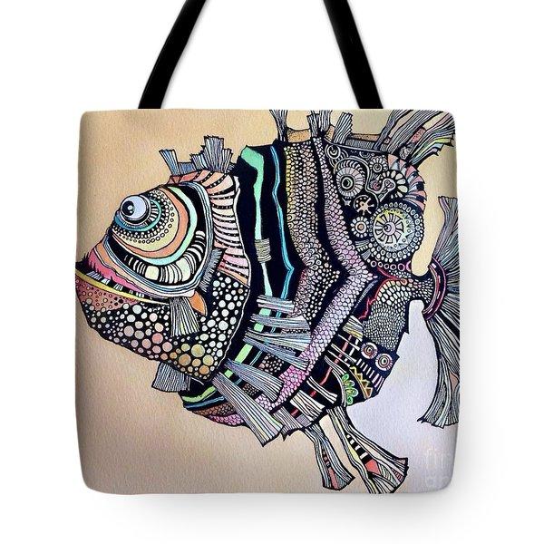 Boomer The Fish Tote Bag by Iya Carson