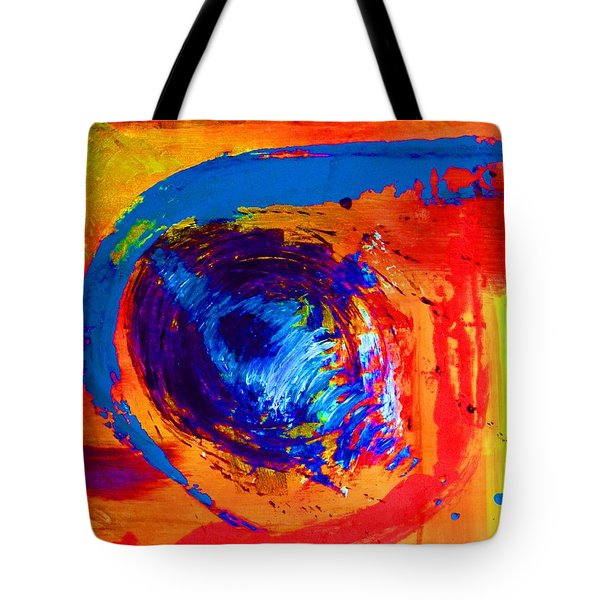 Tote Bag featuring the mixed media Boomerang by Everette McMahan jr