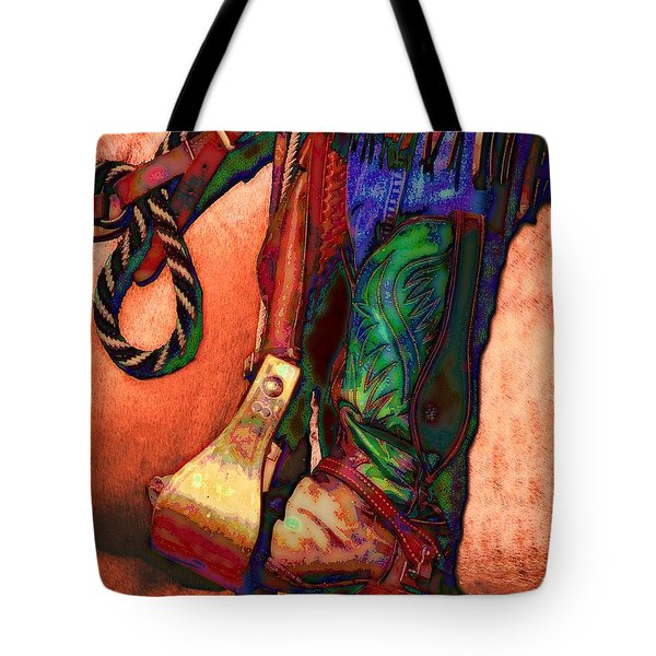 Boot Tote Bag by Kae Cheatham